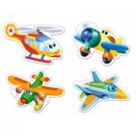 Castorland-B-005048 4 Jigsaw Puzzles - XXL Pieces - Funny Planes