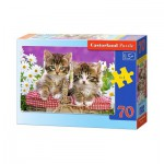 Puzzle  Castorland-B-007158 Kittens in a Basket