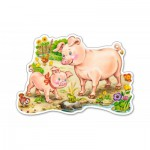 Puzzle  Castorland-B-015016 A Piggy with Mom