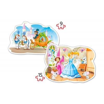 Castorland-B-020027 2 Jigsaw Puzzles - Cinderella