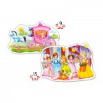 Castorland-B-020034 2 Jigsaw Puzzles - The Princess Ball