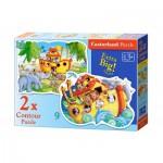 Castorland-B-020089 2 Jigsaw Puzzles - Noah's Ark