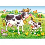 Puzzle  Castorland-B-035090 Cows on a Meadow