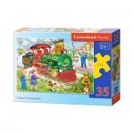 Puzzle  Castorland-B-035120 Green Locomotive