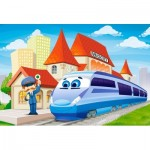 Puzzle  Castorland-B-040216 XXL Pieces - At the Railway Station