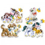 Castorland-B-04218 4 Puzzles: Each one its small