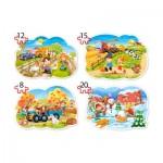 Castorland-B-043019 4 Jigsaw Puzzles - 4 Seasons