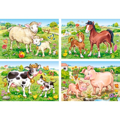 Puzzle Castorland-B-04416 Animal Moms and Babies