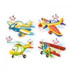 Castorland-B-04447 4 Jigsaw Puzzles - Planes