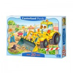 Castorland-C-02139 Jigsaw Puzzle - 20 Maxi Pieces : Bulldozer in Action