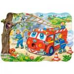 Castorland-C-02146 Jigsaw Puzzle - 20 Maxi Pieces : Firemen