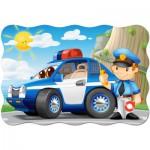 Puzzle  Castorland-C-02252 Police Patrol