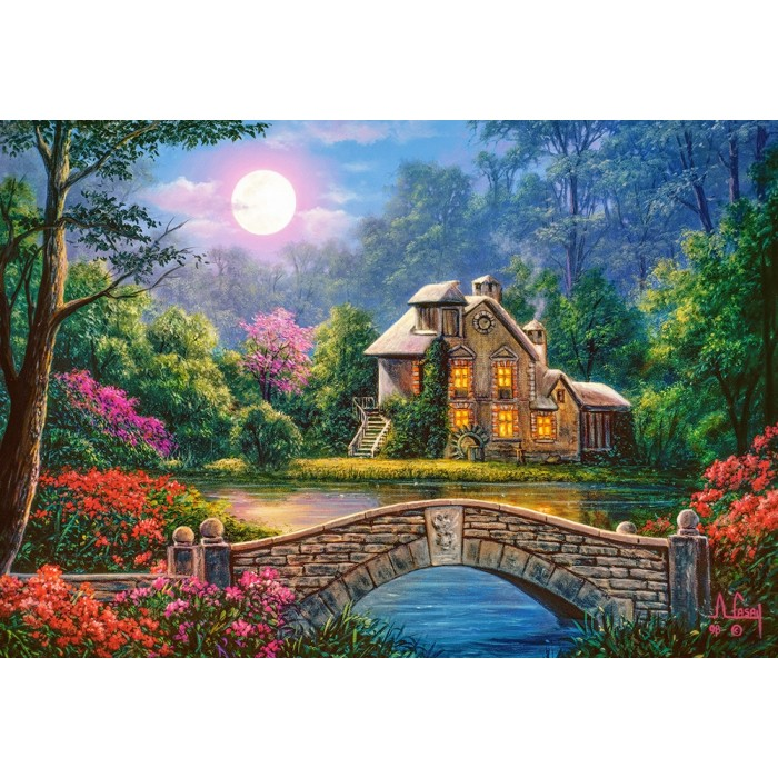 Cottage in The Moon Garden Puzzle 1000pieces