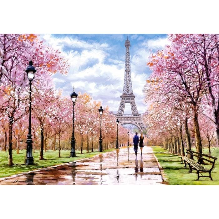 Romantic Walk in Paris Puzzle 1000 pieces