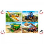 Puzzle   XXL Pieces - Agricultural Machines