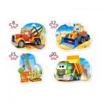 Puzzle   XXL Pieces - Construction Vehicles