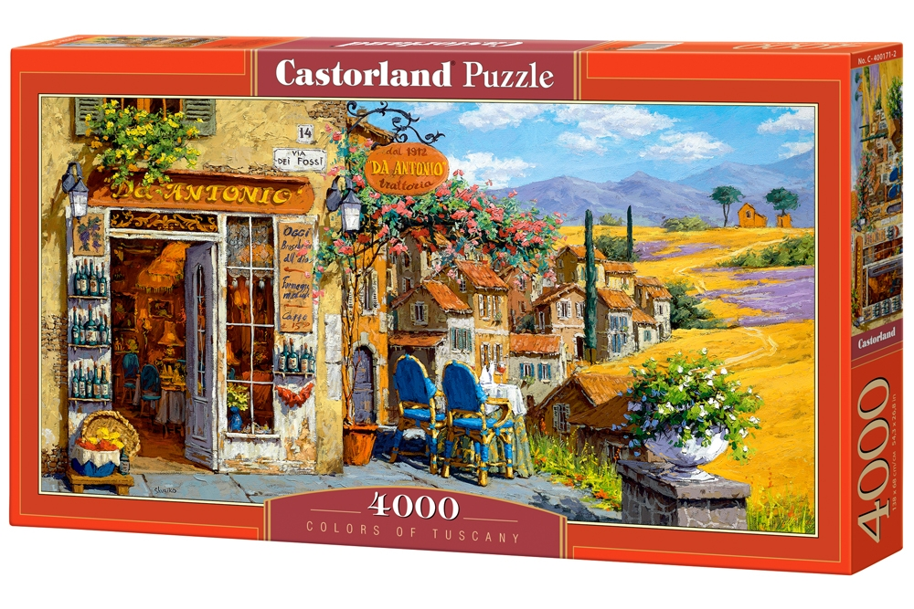 puzzle colors of tuscany castorland 400171 4000 pieces jigsaw puzzles towns and villages. Black Bedroom Furniture Sets. Home Design Ideas