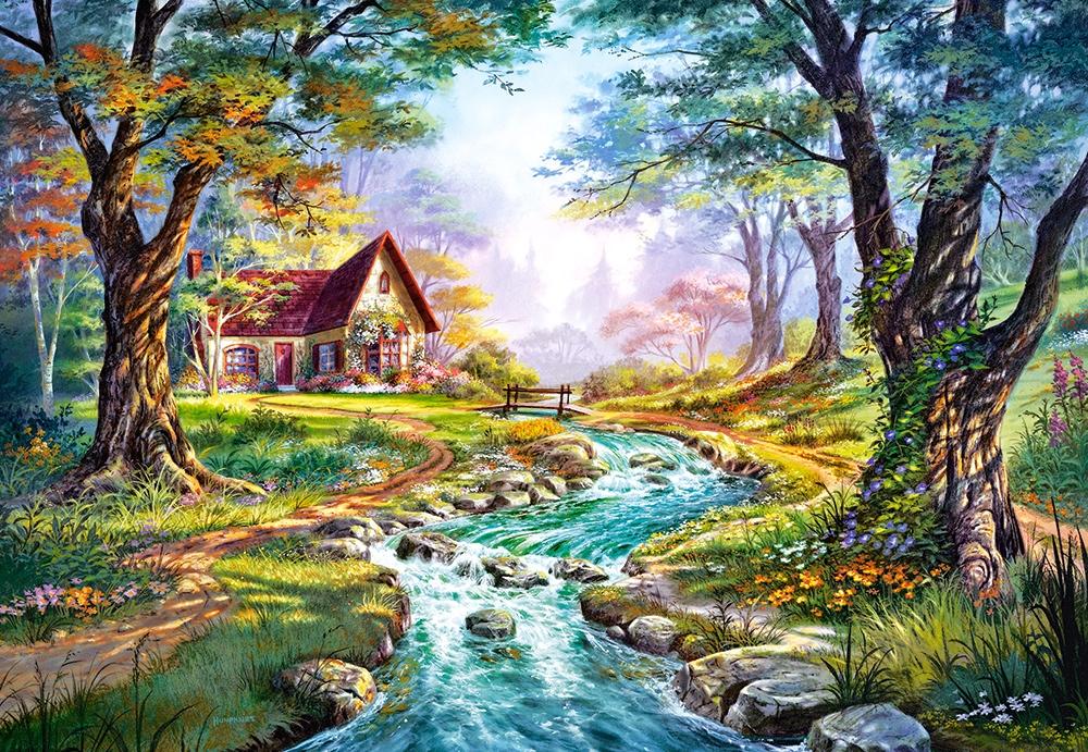 Puzzle Cottage Colors Of Autumn Castorland 151547 1500