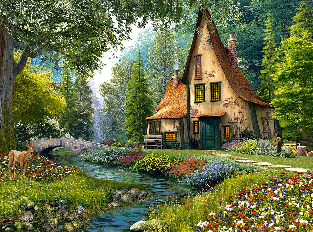 Puzzle Dominic Davison Toadstool Cottage Castorland