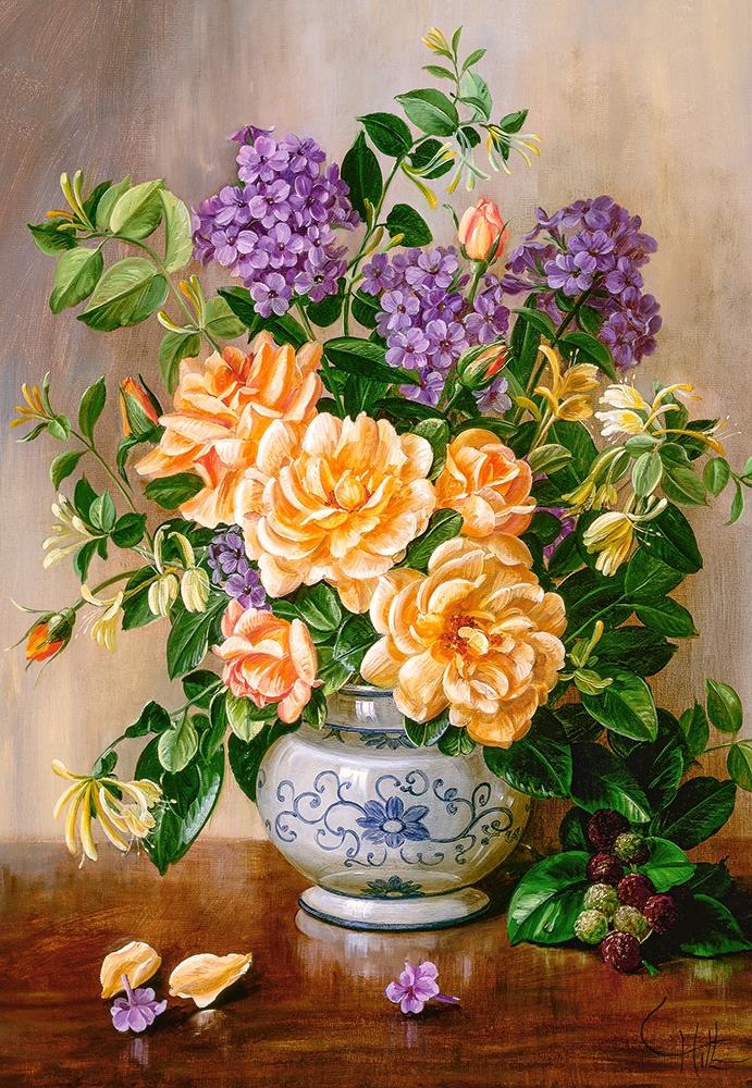 Puzzle Floral Castorland 103928 1000 Pieces Jigsaw Puzzles