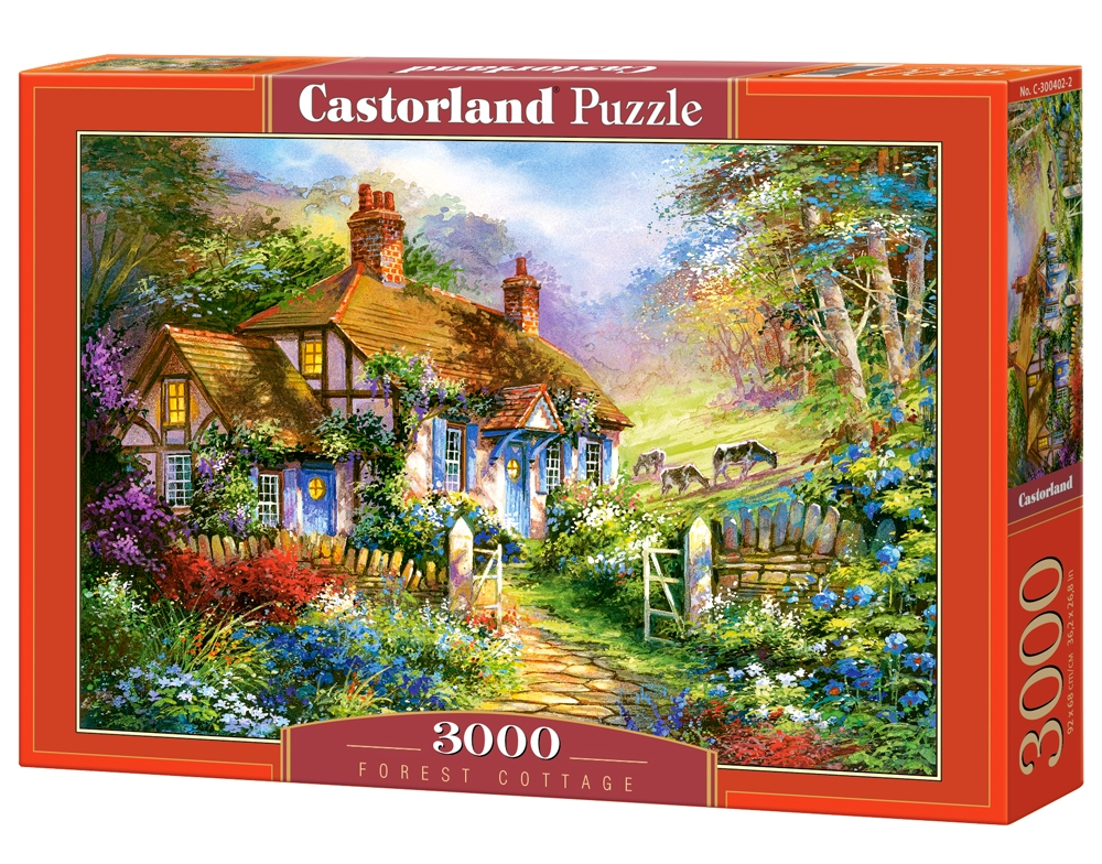 puzzle forest cottage castorland 300402 3000 pieces jigsaw puzzles cottages and chalets. Black Bedroom Furniture Sets. Home Design Ideas