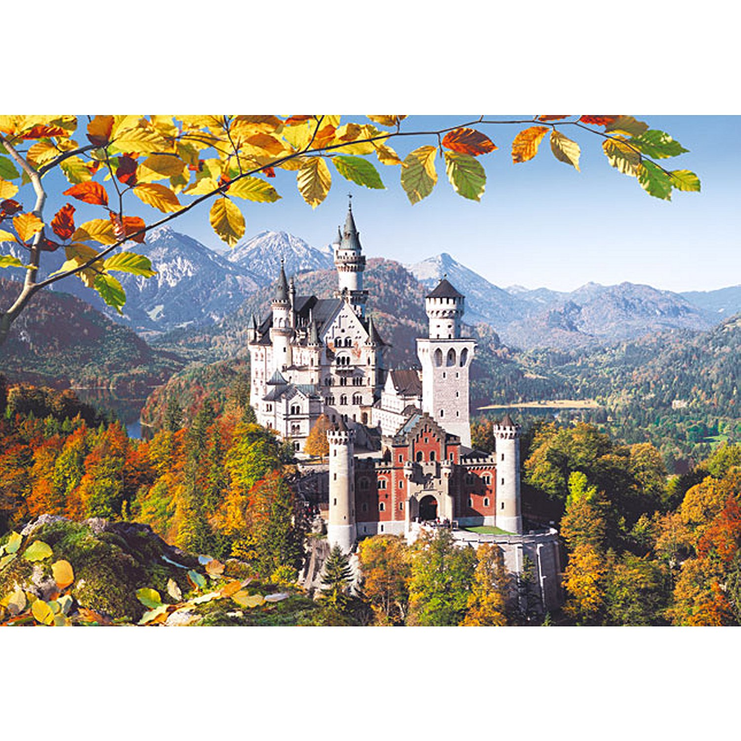 jigsaw puzzle 3000 pieces neuschwanstein castle germany castorland 300013 3000 pieces. Black Bedroom Furniture Sets. Home Design Ideas
