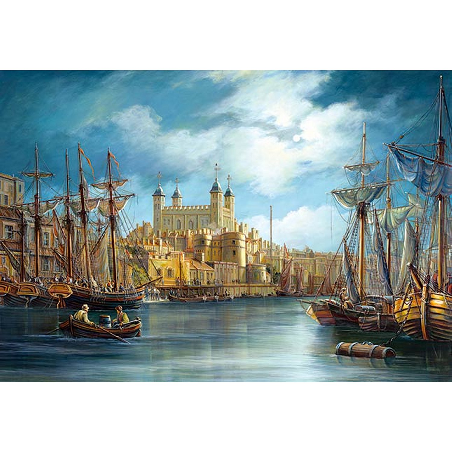jigsaw puzzle 3000 pieces sunrise on the harbour castorland 300167 3000 pieces jigsaw. Black Bedroom Furniture Sets. Home Design Ideas