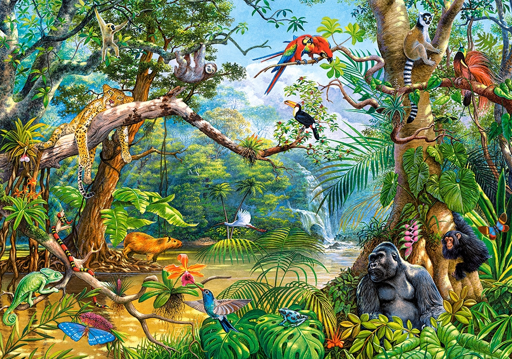 Puzzle Life Hidden In Jungle Castorland 52776 500 Pieces