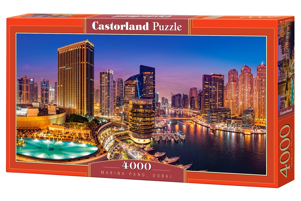 puzzle marina pano dubai castorland 400195 4000 pieces jigsaw puzzles towns and villages. Black Bedroom Furniture Sets. Home Design Ideas