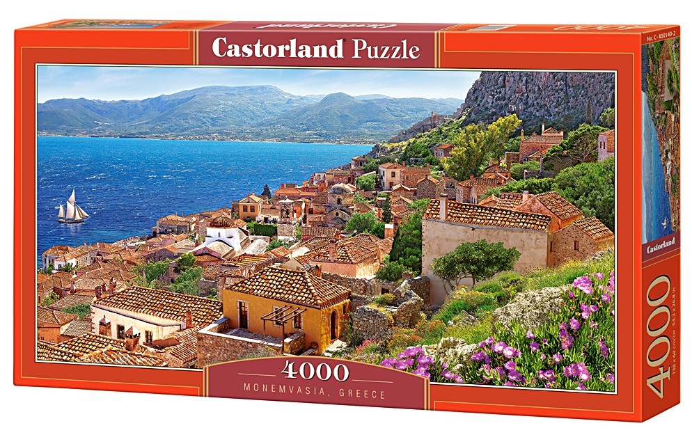 puzzle monemvasia greece castorland 400140 4000 pieces jigsaw puzzles towns and villages. Black Bedroom Furniture Sets. Home Design Ideas