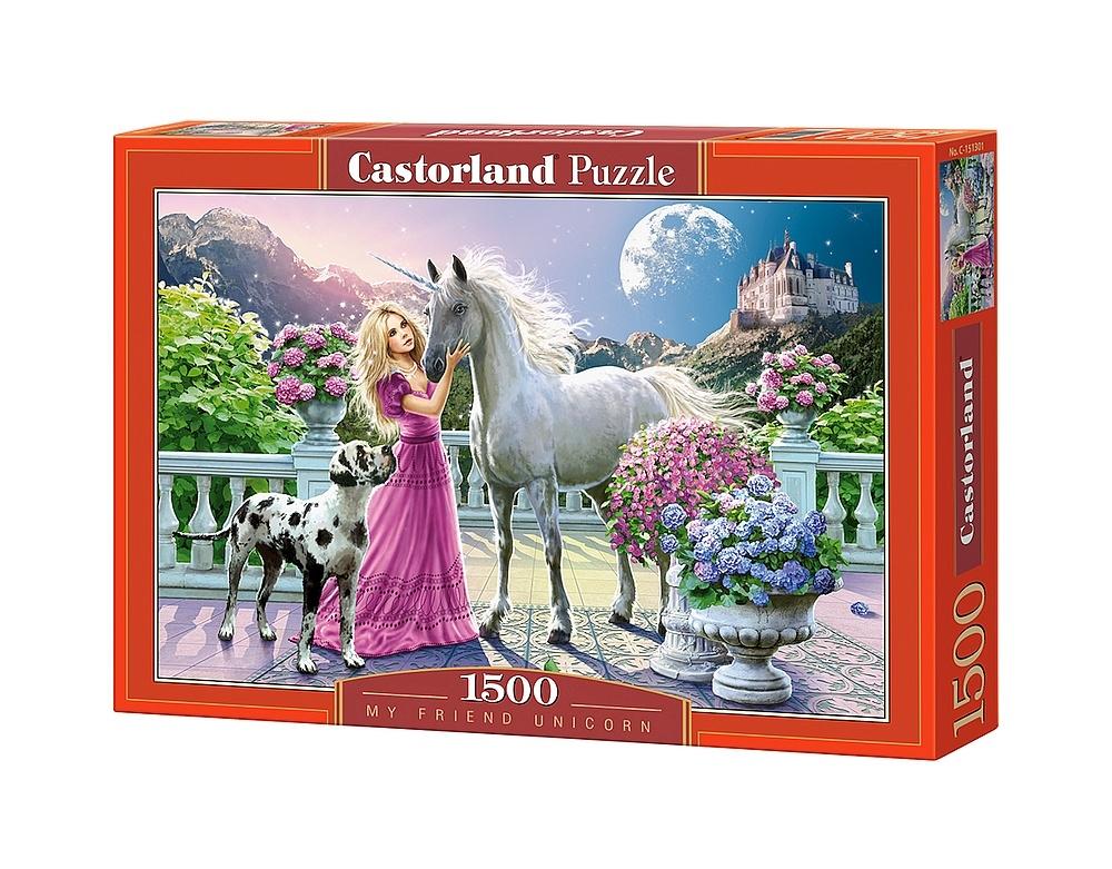 puzzle my friend unicorn castorland 151301 1500 pieces. Black Bedroom Furniture Sets. Home Design Ideas