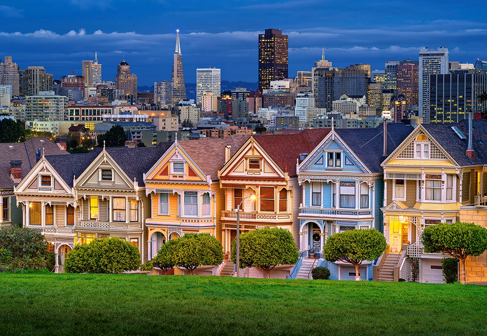 puzzle painted ladies san francisco castorland 103751 1000 pieces jigsaw puzzles towns and. Black Bedroom Furniture Sets. Home Design Ideas