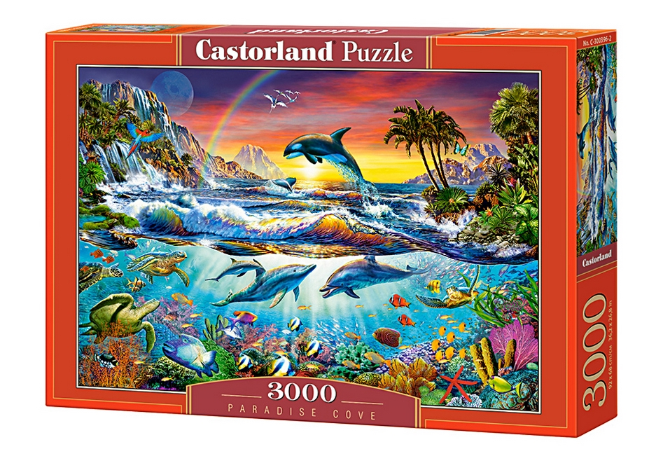 puzzle paradise cove castorland 300396 3000 pieces jigsaw puzzles marine animals jigsaw puzzle. Black Bedroom Furniture Sets. Home Design Ideas