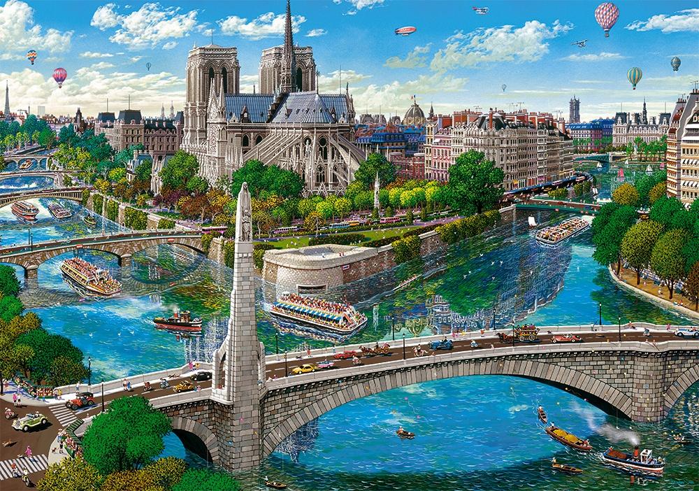 Paris - Notre Dame 500 piece jigsaw puzzle