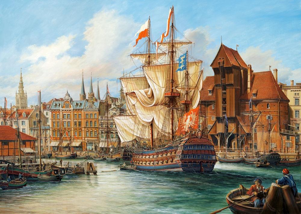 Poland: Old Gdansk 1000 piece jigsaw puzzle