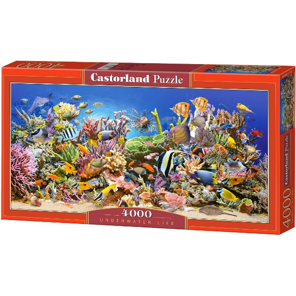 puzzle the underwater life castorland 400089 4000 pieces jigsaw puzzles marine animals. Black Bedroom Furniture Sets. Home Design Ideas