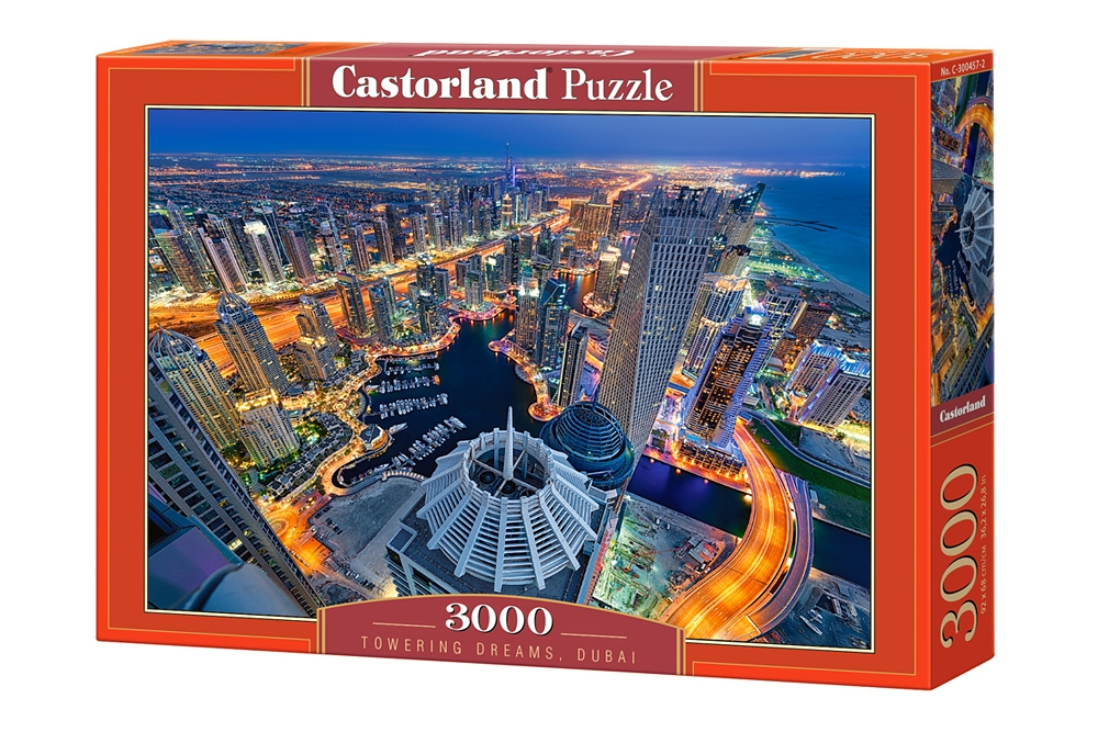 puzzle towering dreams dubai castorland 300457 3000 pieces jigsaw puzzles towns and villages. Black Bedroom Furniture Sets. Home Design Ideas