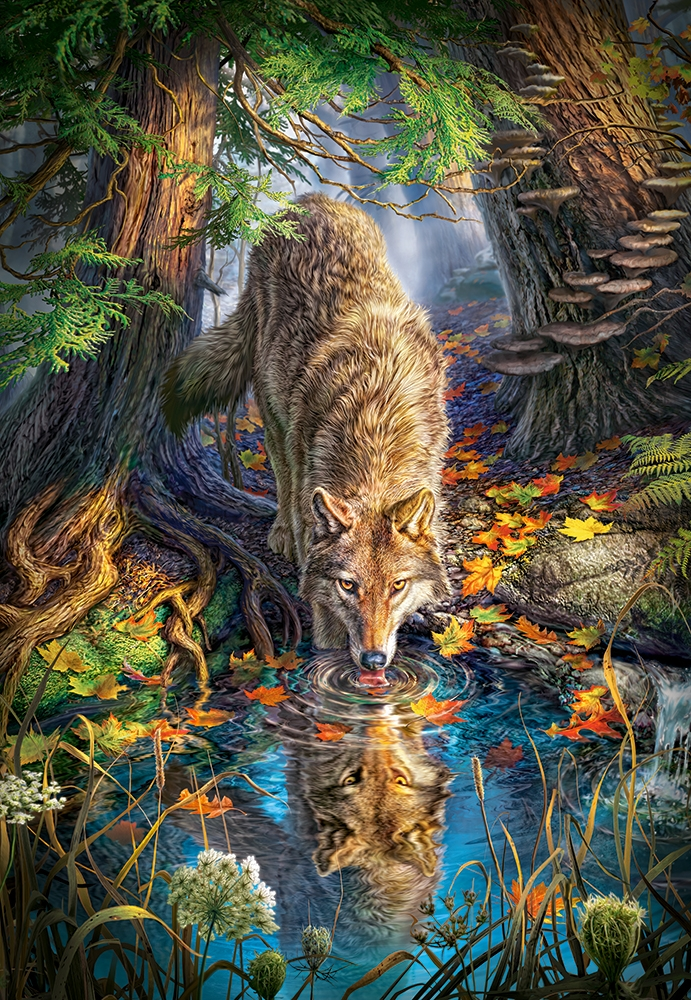 Wolf in the Wild 1500 piece jigsaw puzzle