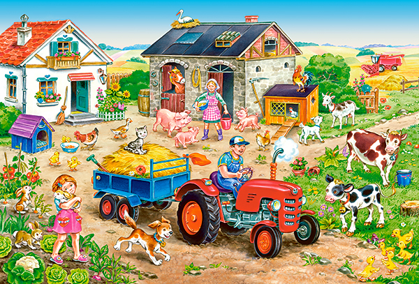 puzzle xxl pieces life on the farm castorland 040193 40 pieces