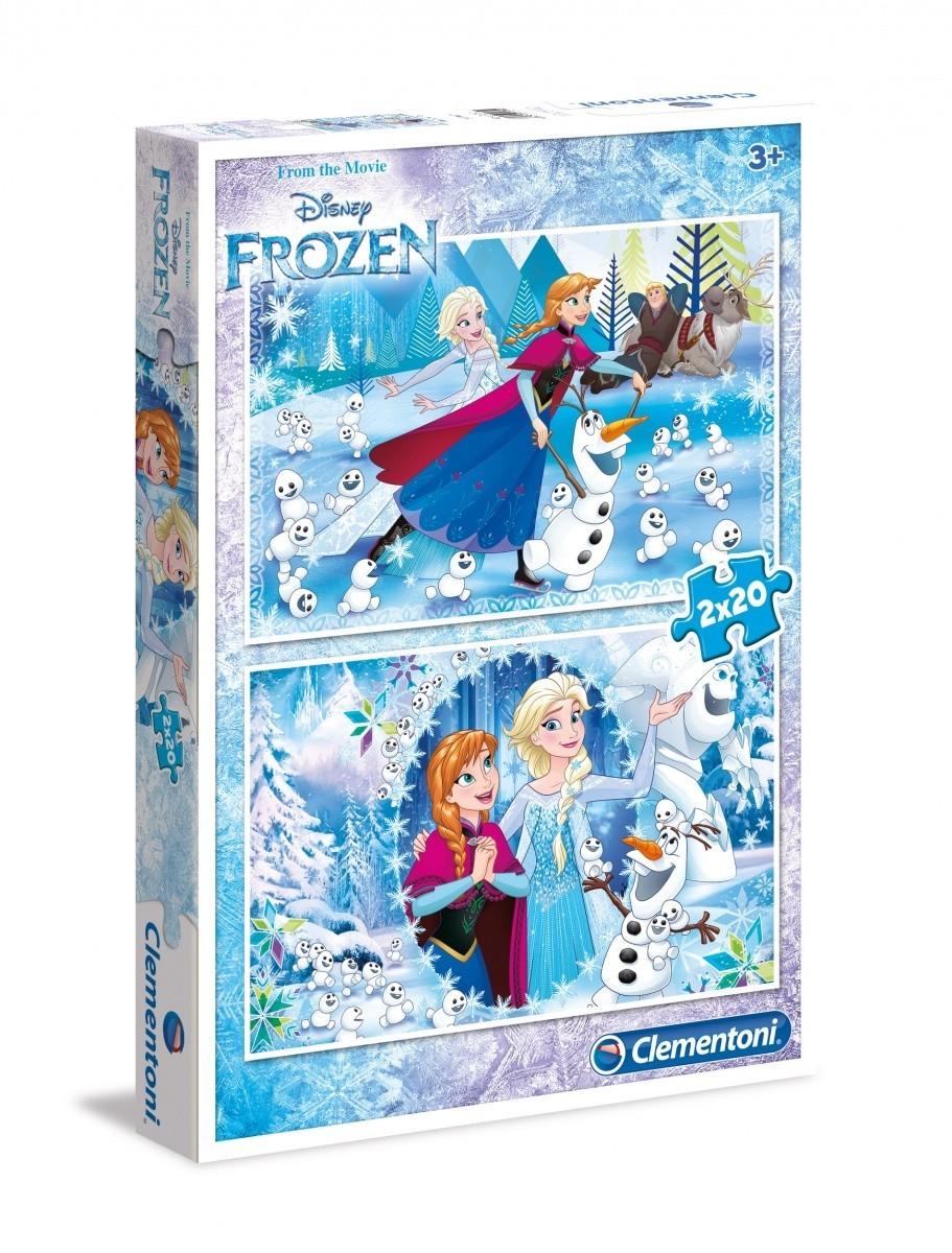 2 jigsaw puzzles frozen clementoni 07030 20 pieces jigsaw puzzles snow jigsaw puzzle. Black Bedroom Furniture Sets. Home Design Ideas
