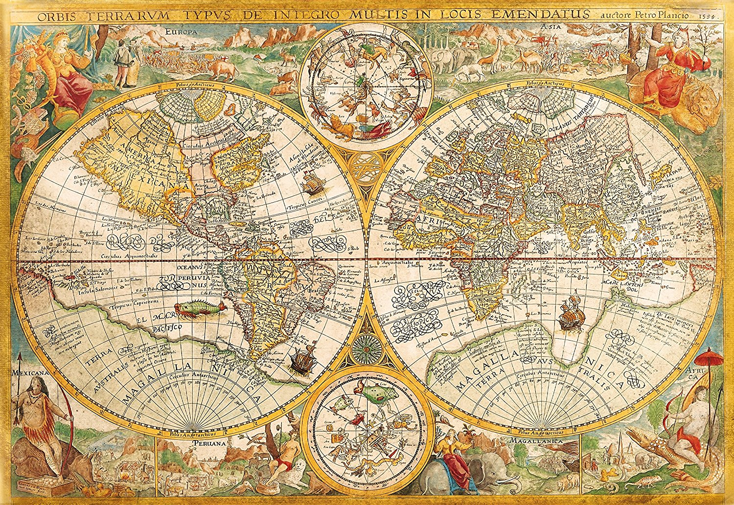 Puzzle antique world map clementoni 32557 2000 pieces jigsaw puzzles antique world map gumiabroncs Images