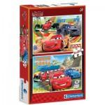 Clementoni-07005 2 Jigsaw Puzzles - Cars