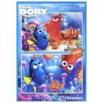 Clementoni-07024 2 Jigsaw Puzzles - Finding Dory