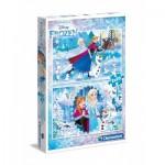 Clementoni-07030 2 Jigsaw Puzzles - Frozen