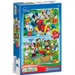 Clementoni-07106 2 Jigsaw Puzzles - Mickey Mouse