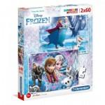 Clementoni-07119 2 Jigsaw Puzzles - Frozen