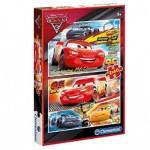 Clementoni-07131 2 Puzzles - Cars 3