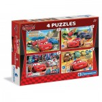Clementoni-07602 4 Jigsaw Puzzles - Cars