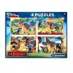 Clementoni-07608 4 Jigsaw Puzzles - The Lion Guard
