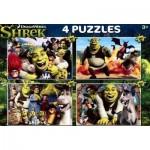 Clementoni-07609 4 Jigsaw Puzzles - Shrek